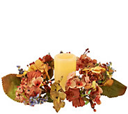As Is Autumn Hydrangea Centerpiece w/ 5 Flameless Candle w/ Timer - H210579