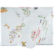 Lenox Butterfly Meadow 60x102 Water Repel Table Cloth w/ 8 Napkins - H214979
