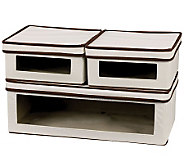 Window Canvas Storage Boxes w/ Lids - 2 Small,1 Large - H282479
