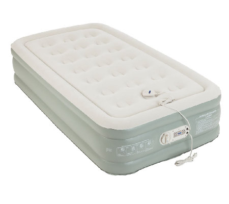 Aerobed Premier Raised Air Bed With Built In Pump Twin