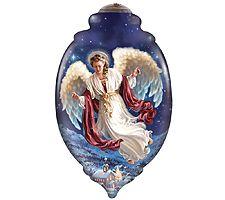 Peace on Earth Angel Ornament by Ne'Qwa
