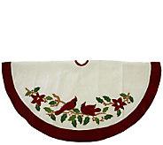 48 Velvet Cardinal Applique Tree Skirt by Northlight - H286879