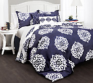 Sophie Comforters Navy 7-Piece King Set by Lush Decor - H287279