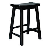Powell Antiqued Black w/Sand-Through Terra-Cotta Counter Stool - H354379