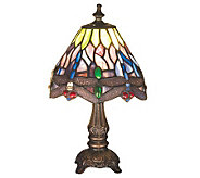 Meyda Tiffany Style Dragonfly Mini Lamp - H112380