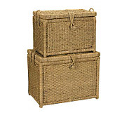 Household Essentials Seagrass Chest, Set of 2 - H142580