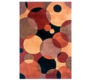 Momeni New Wave Circles 76 x 96 Handmade Wool Rug - H161780