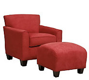 Handy Living Lincoln Park Microfiber Chair & Ottoman - H177680