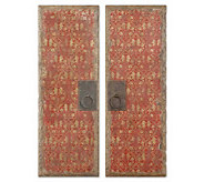 Set of 2 Red Door Panels Wall Art by Uttermost - H185980