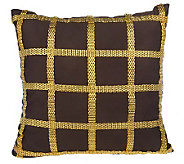 Liz Claiborne New York Chain Reaction Checkered 14x14 Pillow - H189280