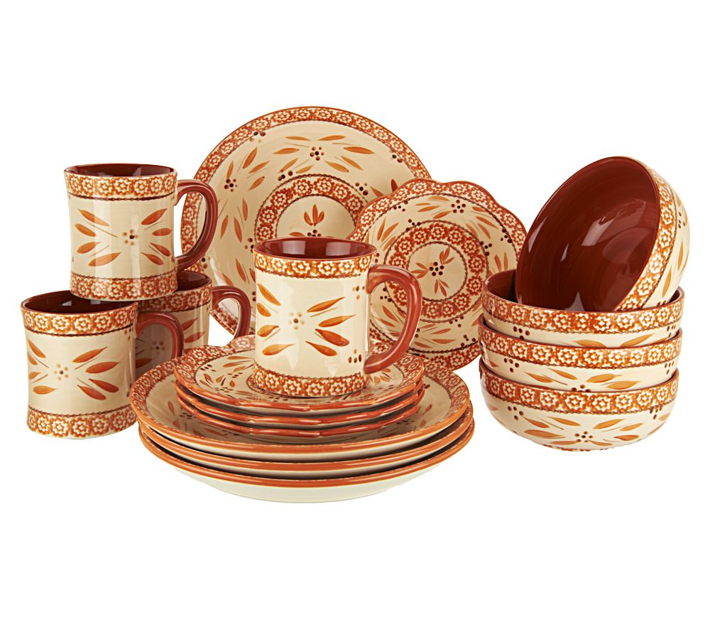 Temp Tations Hand Painted 16 Pc Service For 4 Dinnerware Set Page  sc 1 st  Dining Table Set & Outstanding Temptations Dinnerware Set Pictures - Best Image Engine ...