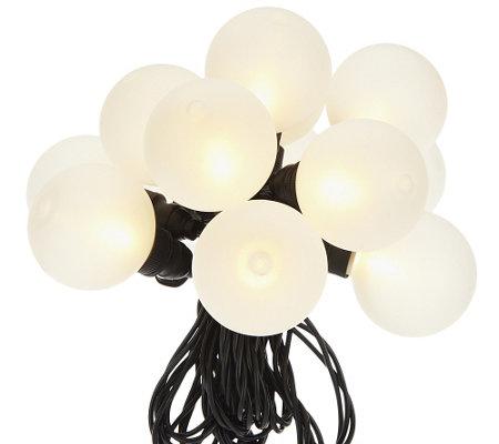 bethlehem lights 13 39 battery op frosted globe lights. Black Bedroom Furniture Sets. Home Design Ideas