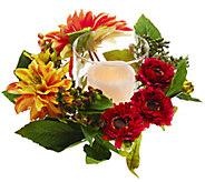 Dahlia Centerpiece with Flameless Candle Pillar by Valerie - H204780