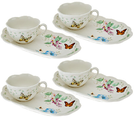 Lenox 4 Pc Butterfly Meadow Soup Amp Sandwich Set H206880