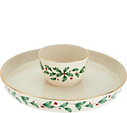Lenox 4-1 Holiday Serving Platter and Bowl Set w/ Gold Accents - H208680