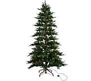 As Is ED On Air Santas Best 7.5 Rustic Spruce Tree by Ellen - H211080