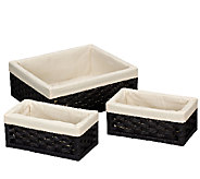 Household Essentials Paper Rope Utility Baskets- Set of 3 - H285080
