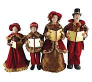 Set of 4 20 to 27 Victorian Carolers by Santas Workshop - H290080