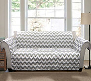 Gray Chevron Sofa Furniture Protector by Lush Decor - H290180