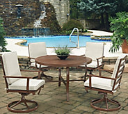 Key West 5-Piece Round Outdoor Table & 4 SwivelChairs - H291780