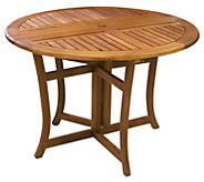 Outdoor Interiors Eucalyptus Folding Dining Table, 48 - H295380