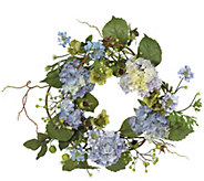 20 Hydrangea Wreath by Nearly Natural - H295580