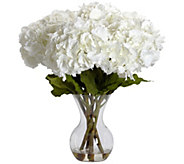 Large Hydrangea Vase Flower Arrangement by Nearly Natural - H295680