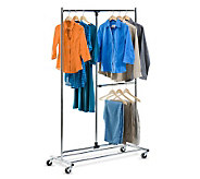Honey-Can-Do 80 Dual Bar Adjustable Garment Rack - H356580