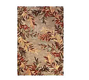 Royal Palace 79 x 96 Tropical Branch Wool Handmade Rug - H146481