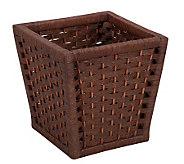 Household Essentials Paper Rope Wood Handle Basket - H157281