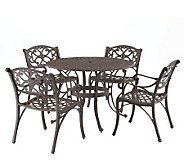Home Styles Cast Aluminum 48 Round Table and 4Armchairs - H176581