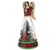 Kringle Express 12.5 Holiday Figurine with Crackle Glass - H203381
