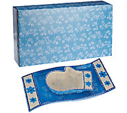 Temp-tations Floral Lace Mitten Bowl & Scarf Tray in Gift Box - H206281
