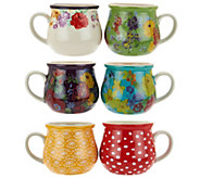 Pioneer Woman Garden Meadow Set of 6 Jumbo Ceramic Mug Set - H208481