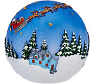 Plow and Hearth Outdoor/Indoor 8 Glowing Sphere with Holiday Scene - H208781