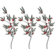 As Is Set of (3) 32 Jingle Bell Stems by Valerie - H214381
