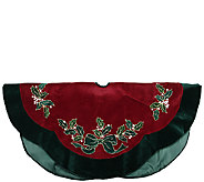 48 Embroidered Holly Berry Tree Skirt by Northlight - H286881