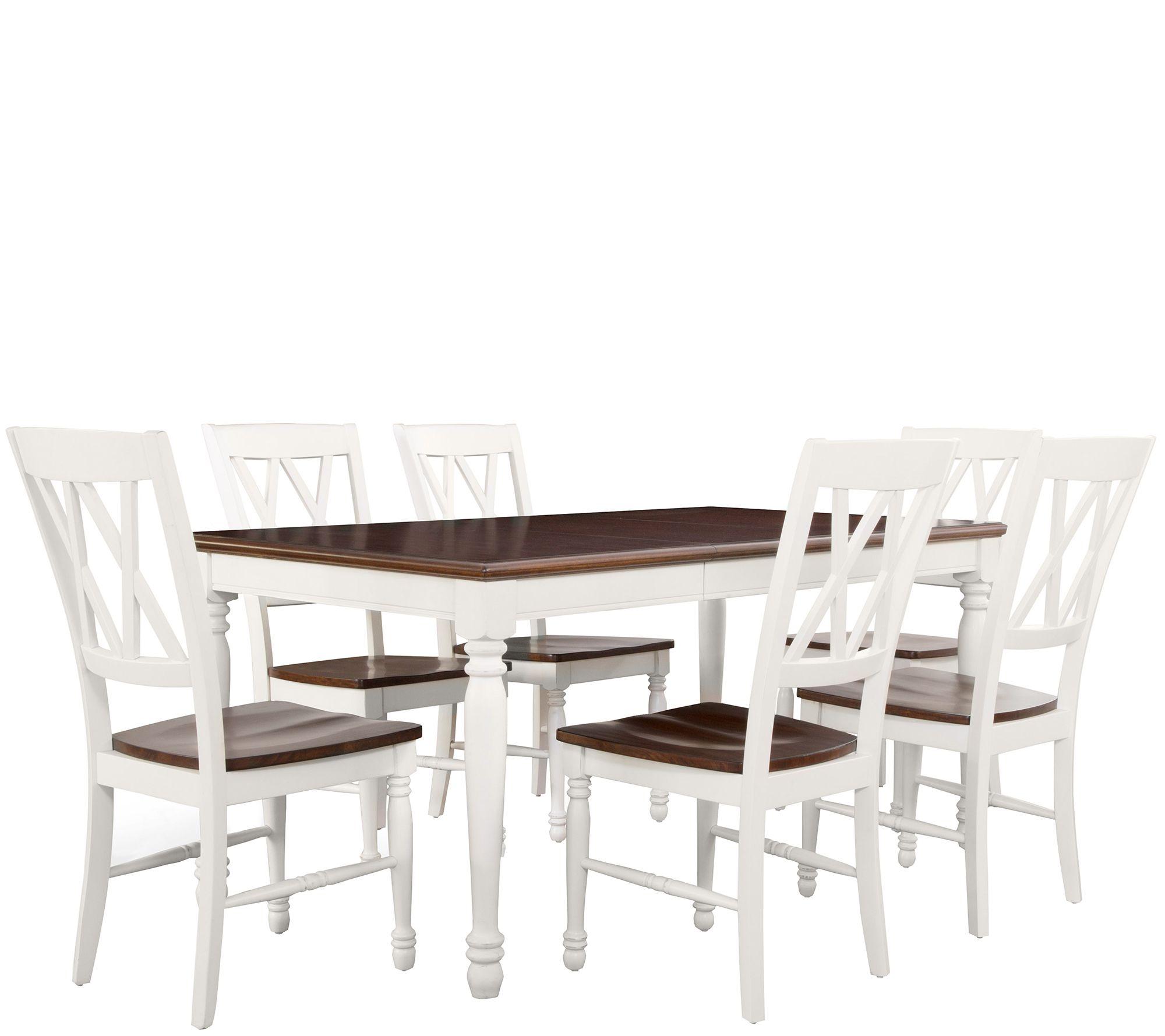 Crosley Shelby 7 Piece Dining Set QVC