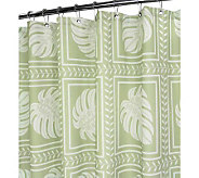 Watershed 2-in-1 Island Tropics 72x72 Shower Curtain - H349381