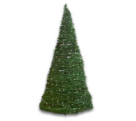 Indoor/Outdoor 6' Pre-Lit Pull-Up Christmas Tree