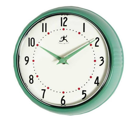 Retro Kitchen Wall Clock H — QVC