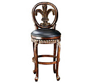 Hillsdale Furniture Fleur-de-Lis Swivel Bar Stool - H142082