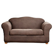 Sure Fit Stretch Faux-Leather Two-Piece Love Seat Slipcover - H174482