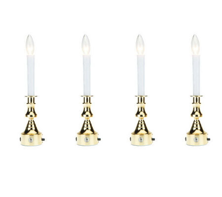 Bethlehem Lights Set/4 Plug-in Window Candles with Timer