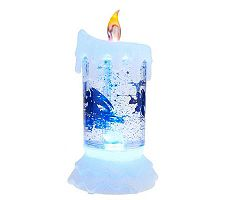 Mr. Christmas Flameless Color Morphing Spinning Glitter Candle