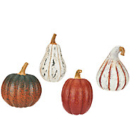 ED On Air Set of 4 Harvest Pumpkins by Ellen DeGeneres - H205782
