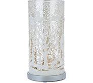 Illuminated Mercury Glass Pillar with Holiday Scene by Valerie - H209282