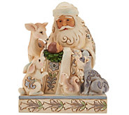Jim Shore Heartwood Creek Woodland Santa and Baby Figurine - H209682