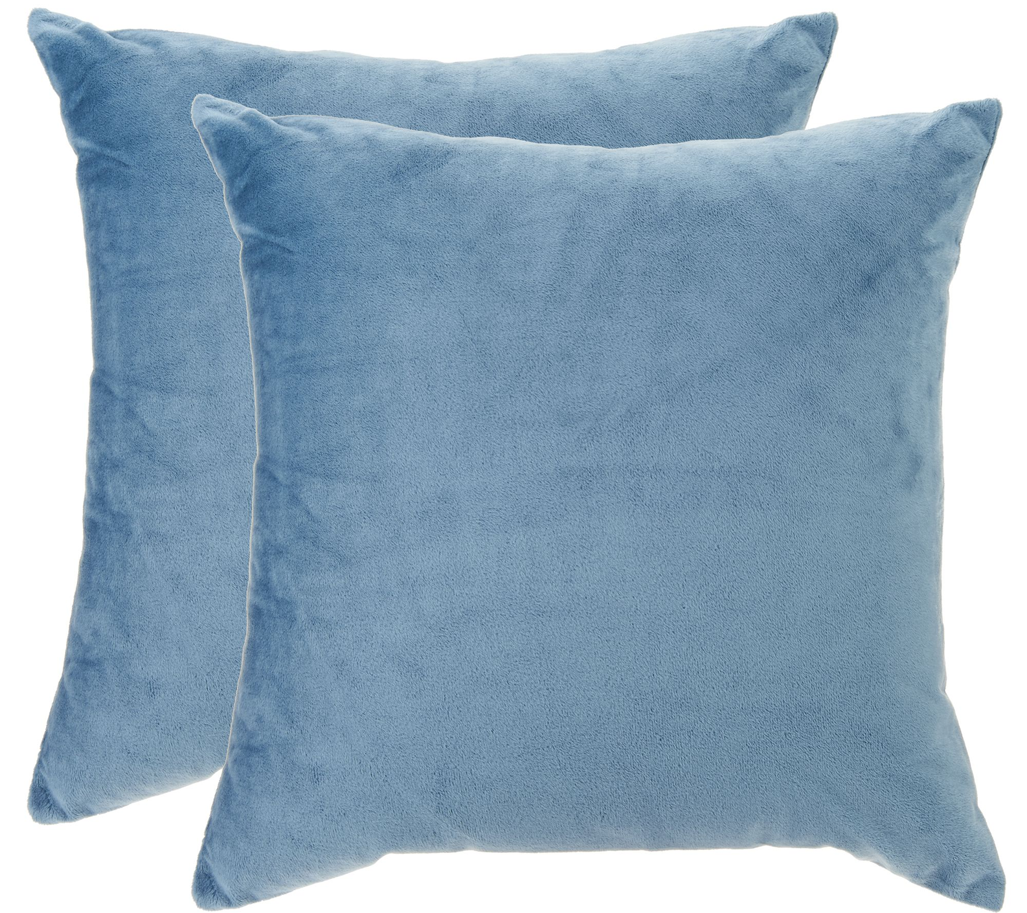 Qvc Decorative Pillows : Sure Fit Plush Comfort (2) 18