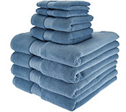 Northern Nights 8 Piece Luxury 100Cotton Generous Size Bath Towel Set - H210882